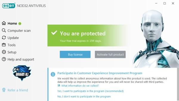 ESET NOD32 AntiVirus бесплатная лицензия